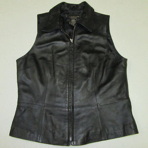 Croft & Barrow Lambskin Leather vest Women's sz M